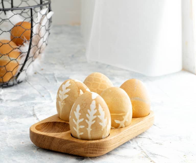 Huevos de color naranja