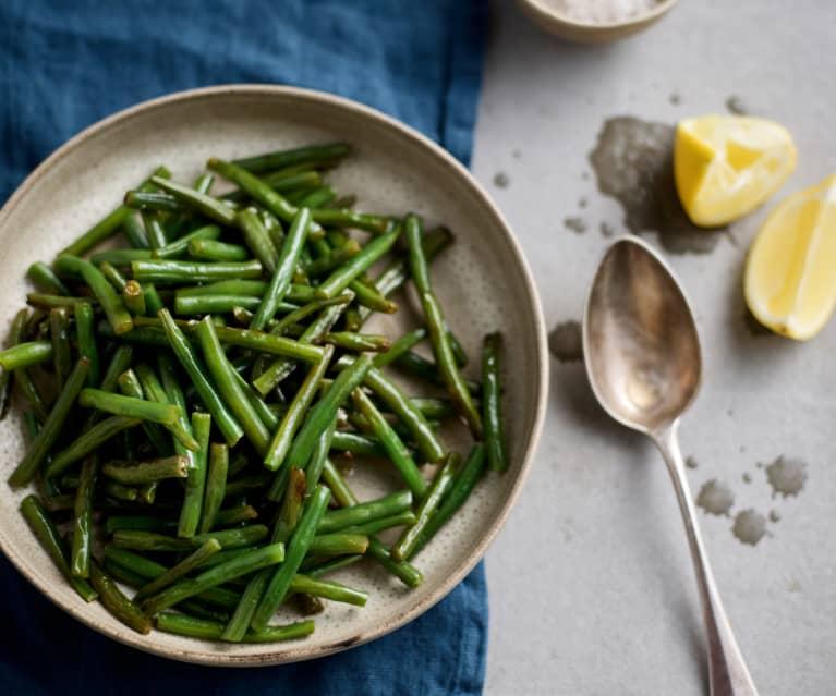 Lehce orestované zelené fazolky