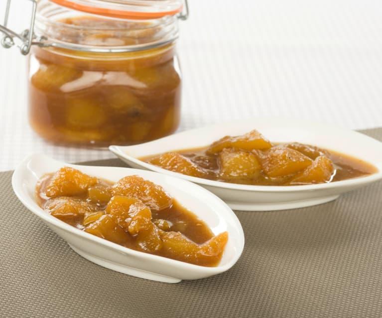 Chutney de pera y jengibre