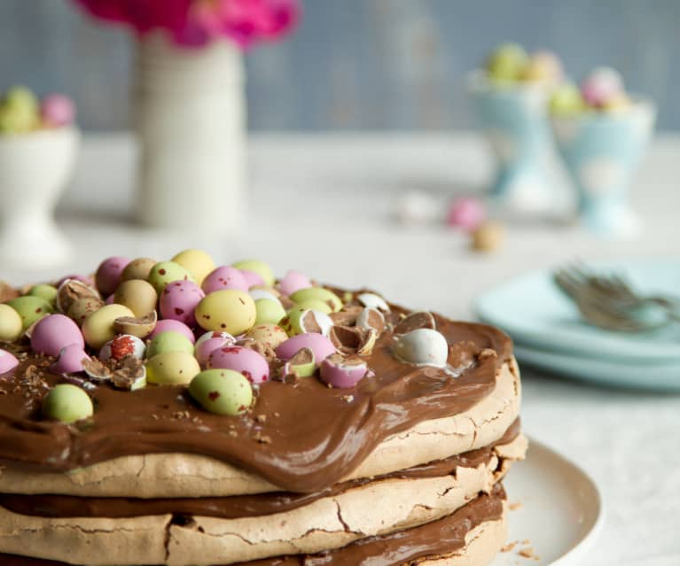 Chocolate Meringue Stack