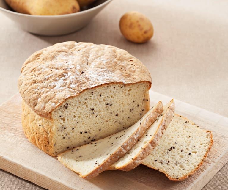Bezglutenowy chleb ziemniaczany z czarnym sezamem