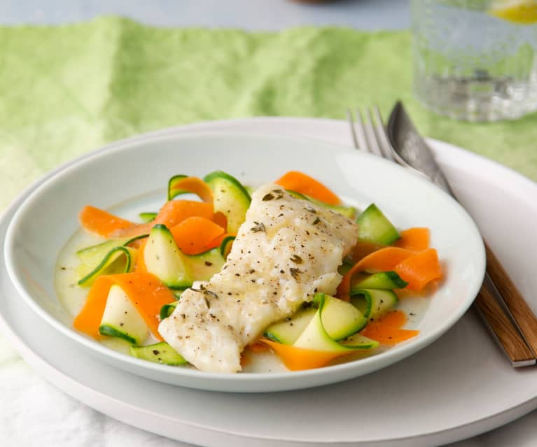 Braised Cod with Thyme and Lemon