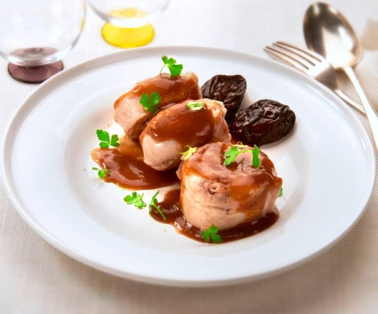 Filetto di coniglio con salsa alle prugne