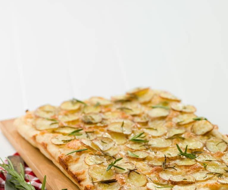 Piza com batata e alecrim