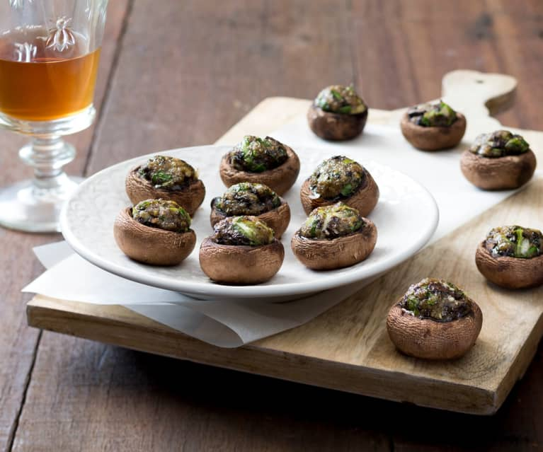 Stuffed Mushrooms with Manchego Cheese