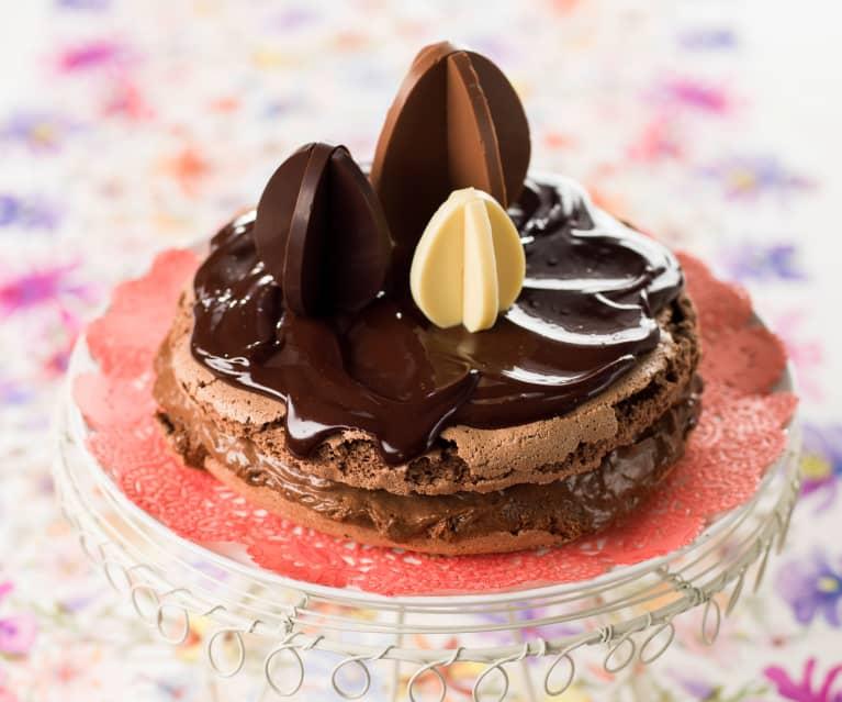 Bolo de chocolate merengado