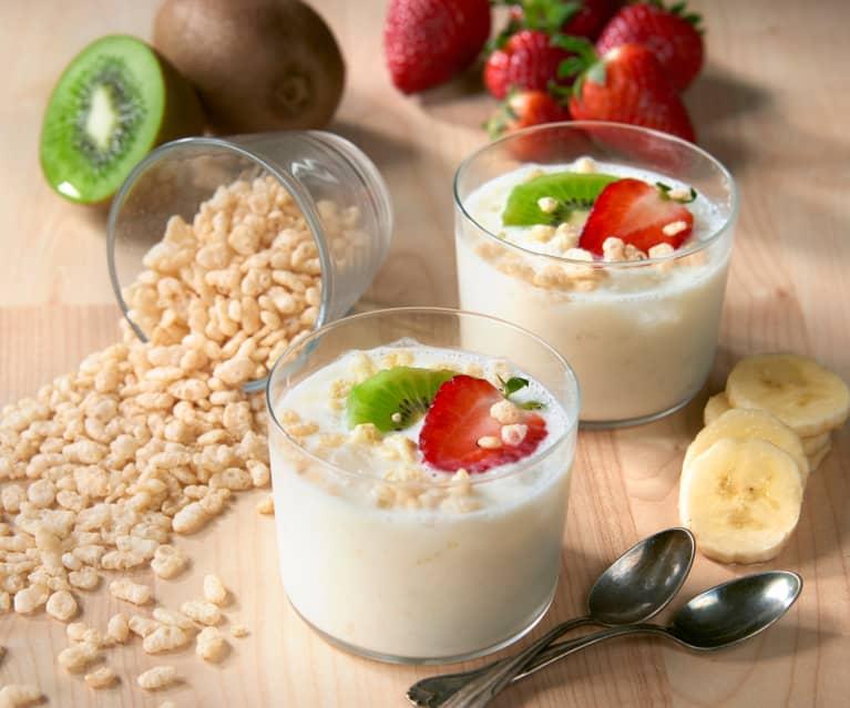 Granita di yogurt con frutta fresca