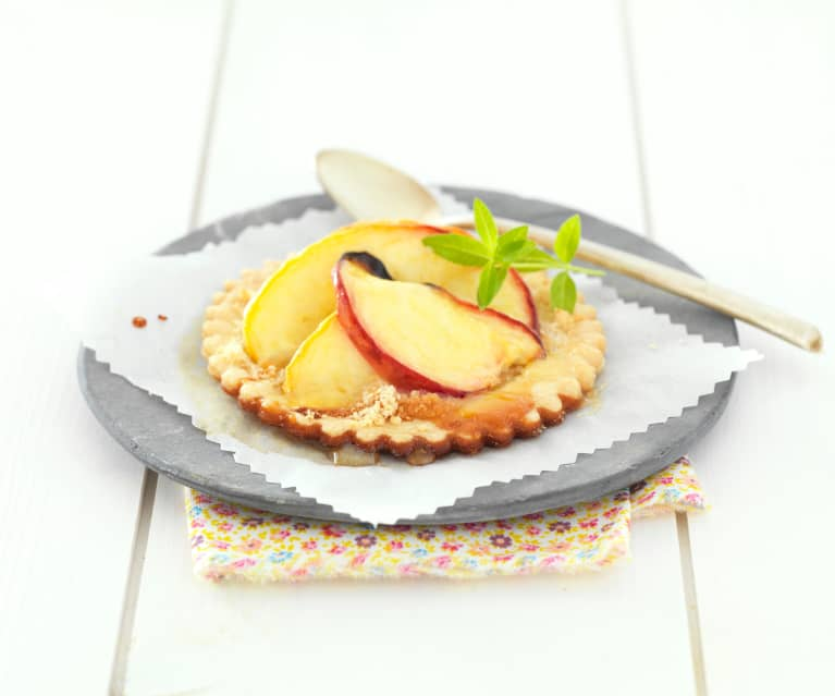 Peach and Lavender Tartlets