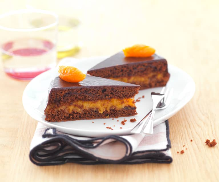 Gâteau chocolat-abricot