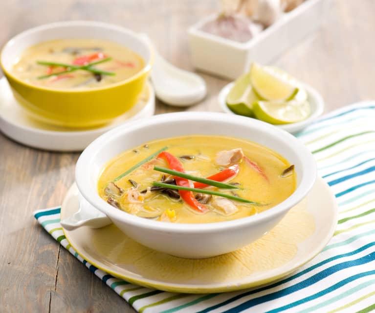 Zupa tajska z pastą curry Edyty Cygan