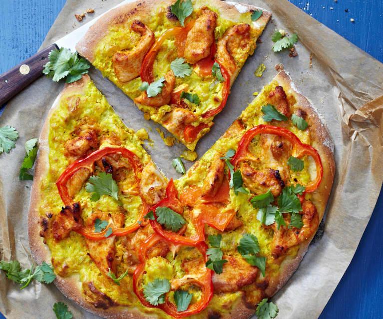 Pizza poulet au curry