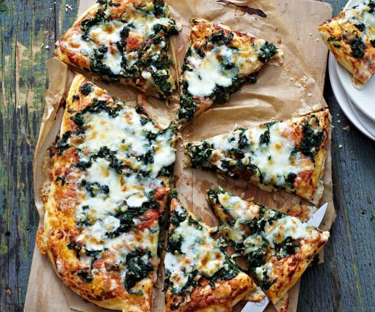 Pizza épinard-feta