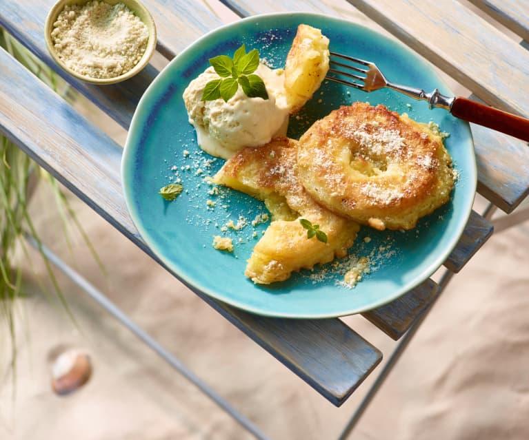 Ananas-Beignets mit Zimt-Limetten-Zucker