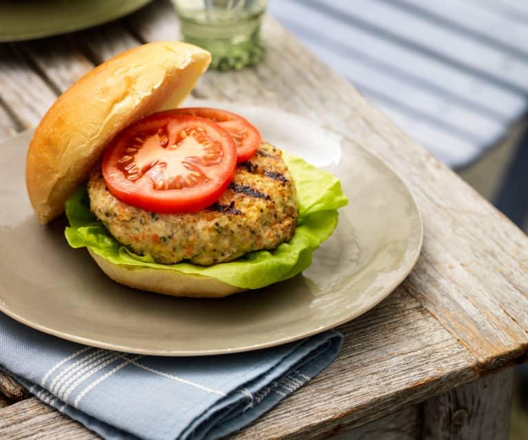 Burger di pollo e quinoa