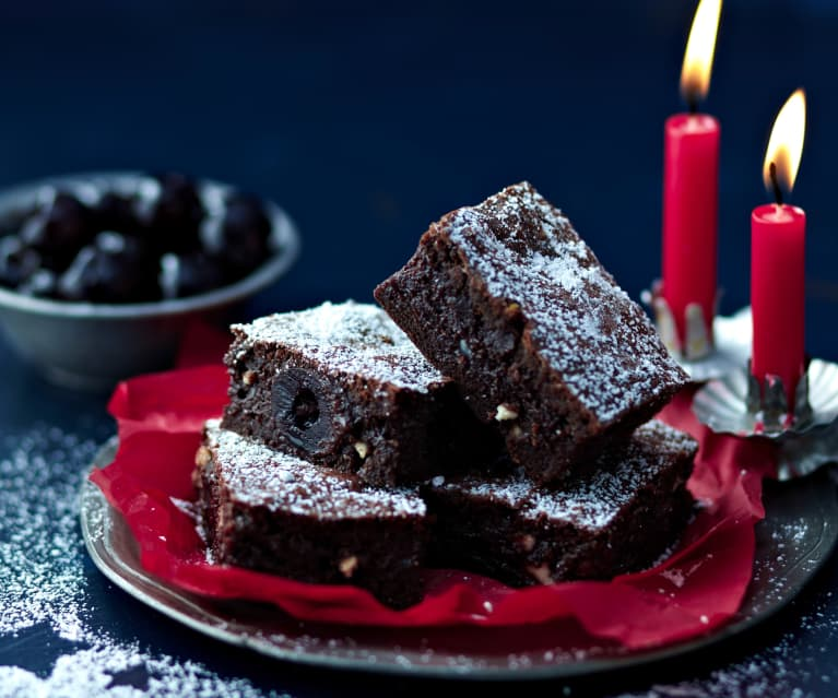Morello Cherry Brownies