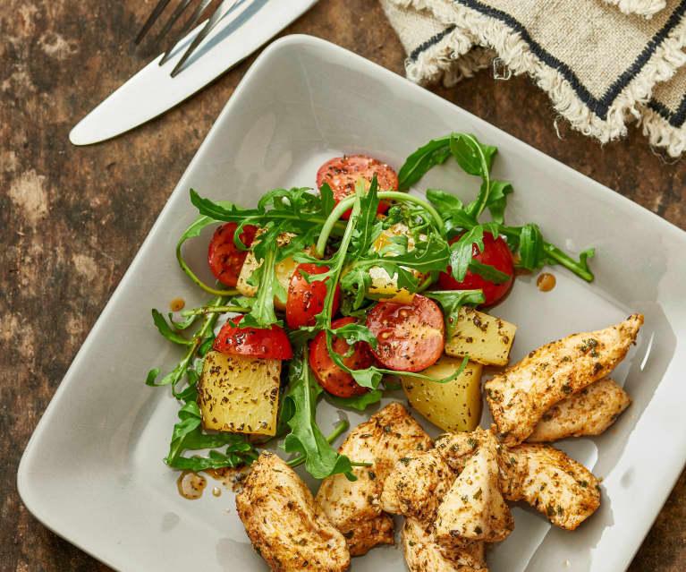 Kip met warme aardappelsalade