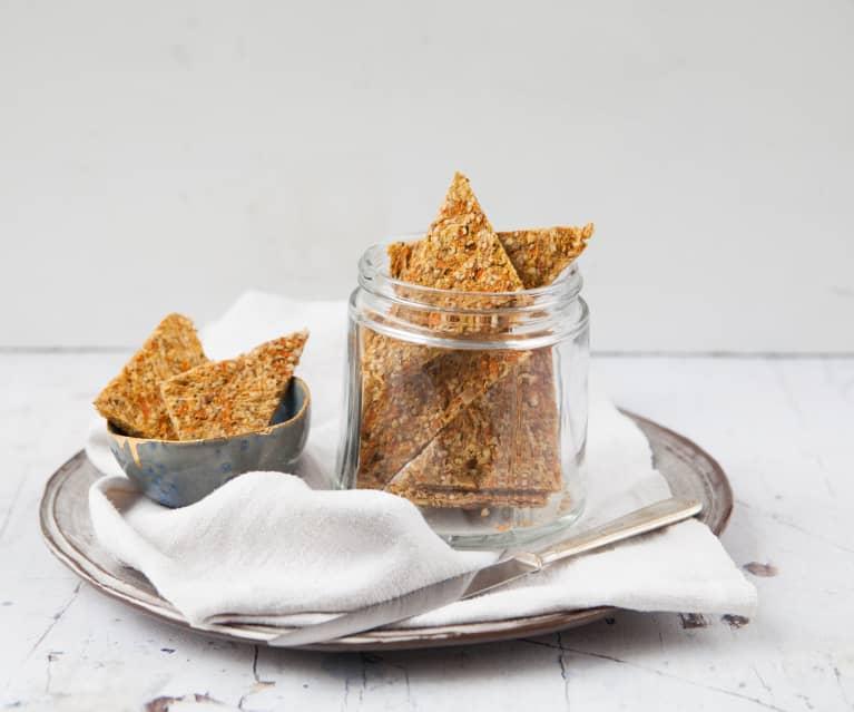 Hanfsamen-Sauerkraut Cracker