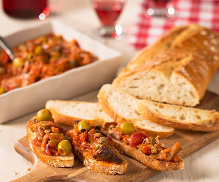 Bruschetta de caponata siciliana