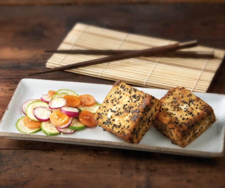 Tofu in crosta di sesamo