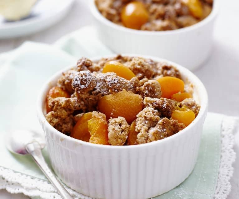 Crumble di albicocche (senza glutine)