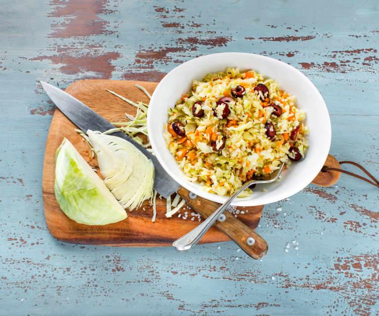 Salade grecque de chou blanc