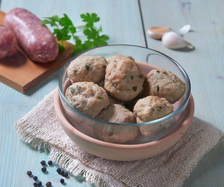 Polpette di manzo e salsiccia