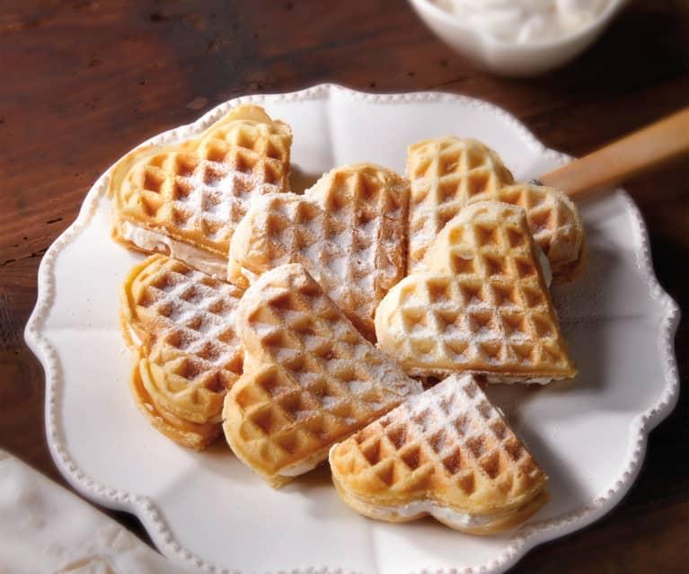 Ricetta Wafer Con Bimby.Waffles Alla Panna Cookidoo La Nostra Piattaforma Ufficiale Di Ricette Per Bimby