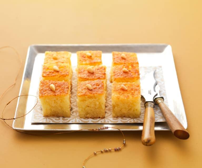 Gâteau de semoule à l'eau de rose (Namoura)