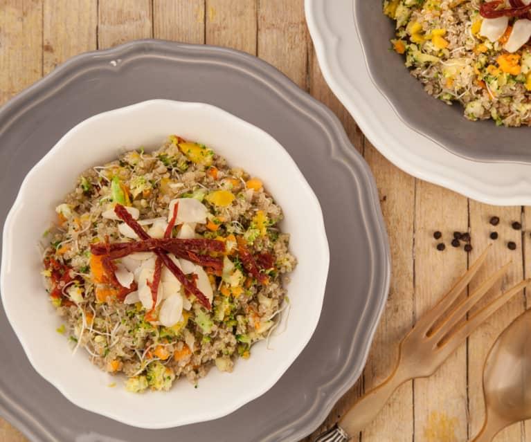Quinoa germinada com legumes