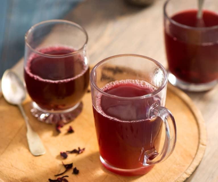 Rozgrzewająca herbata z hibiskusa