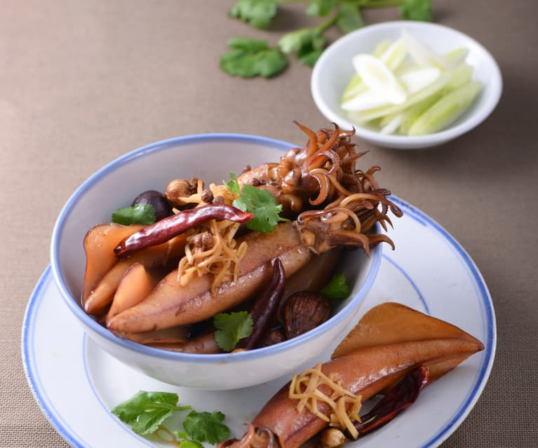 Squid with Ginger and Soy