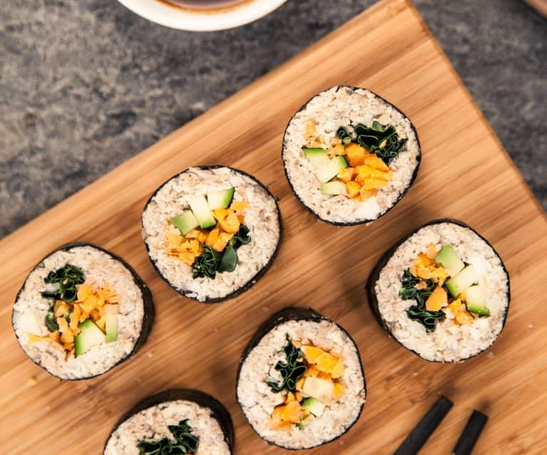 Sushi di verdure raw