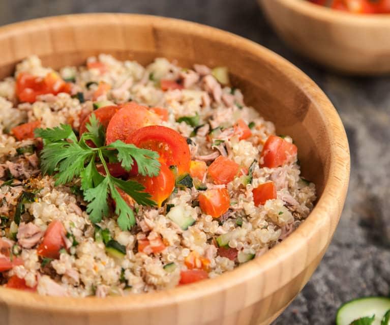 Taboulé met quinoa en tonijn