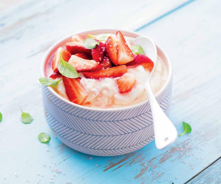 Crème fraise rhubarbe