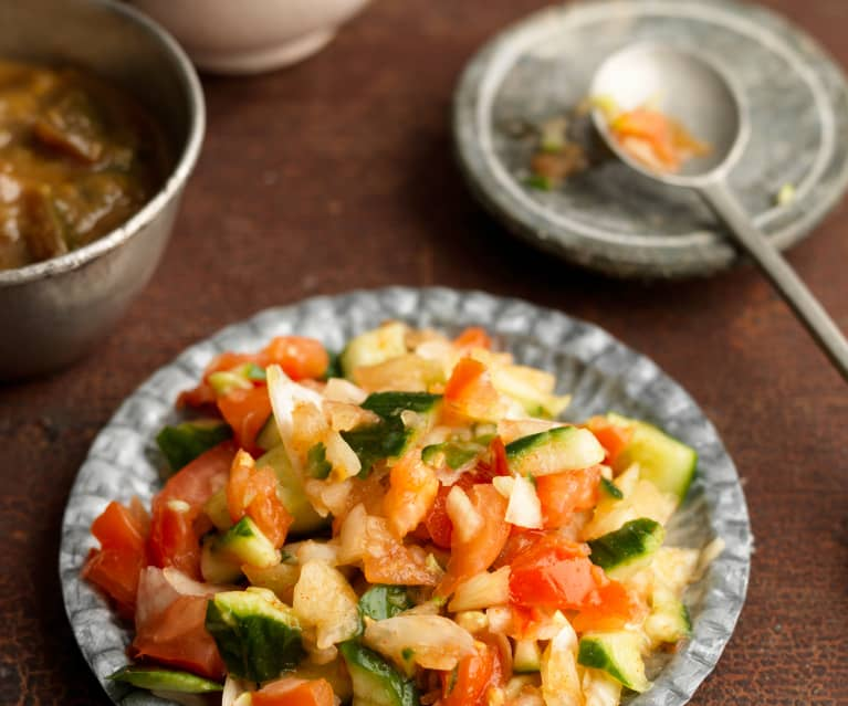 Kachumber (Onion, Tomato and Cucumber Salad)