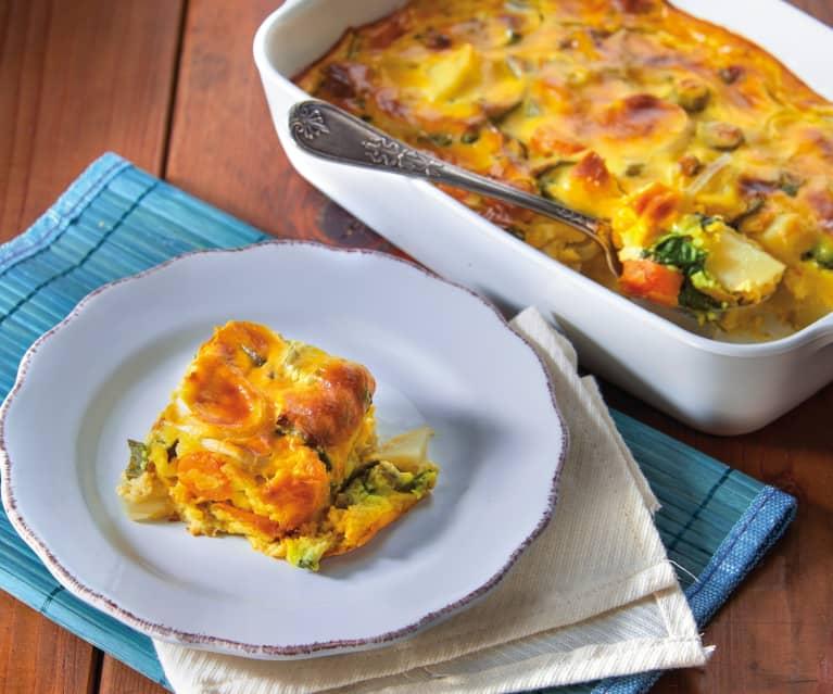 Verdure in crosta di uova e formaggio