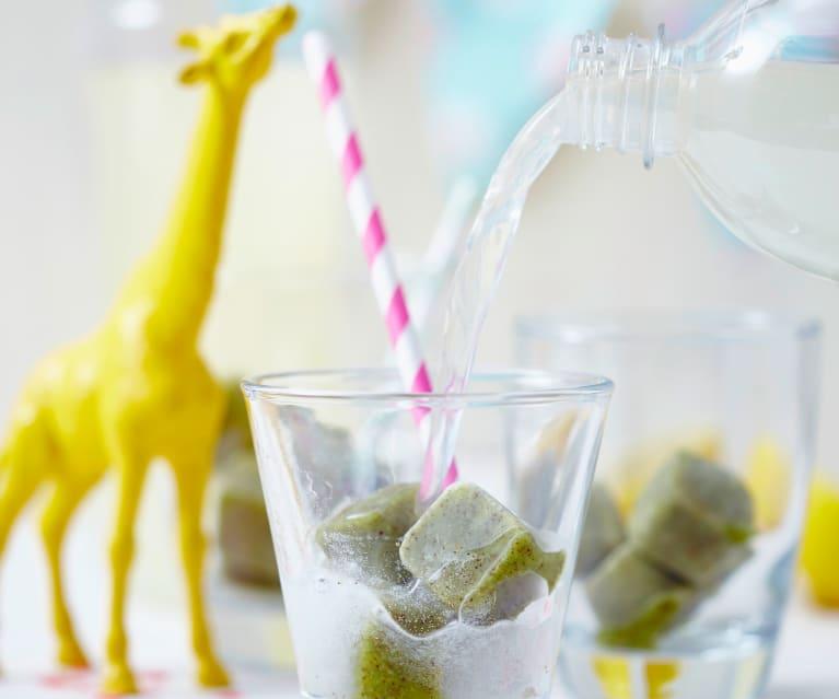 Kiwi-Minz-Eiswürfel