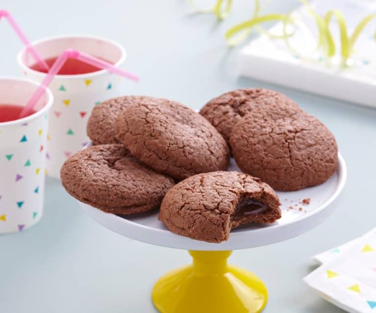 Biscotti cuore morbido al caramello