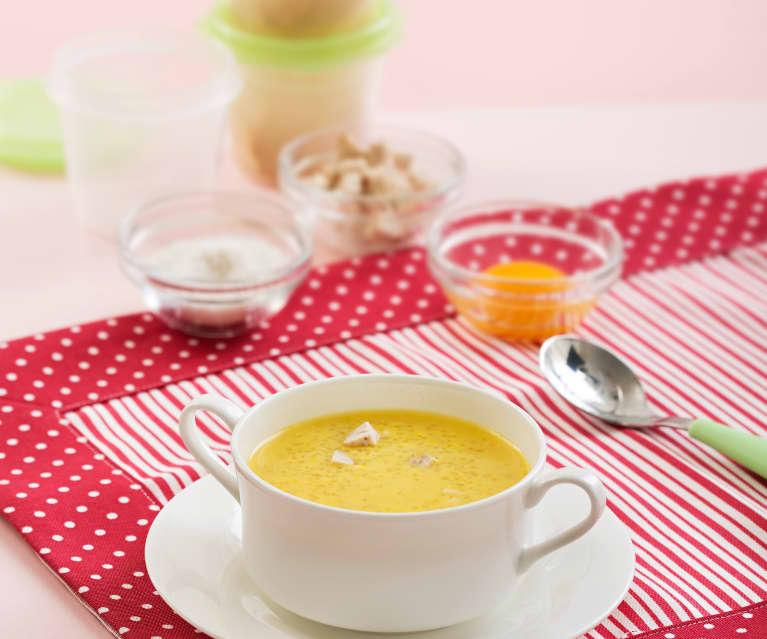 Zupa ryżowa z żółtkiem
