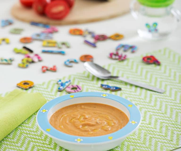 Purée z bakłażana i pomidorów