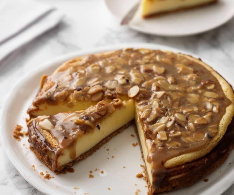 Cheesecake con praliné de almendras