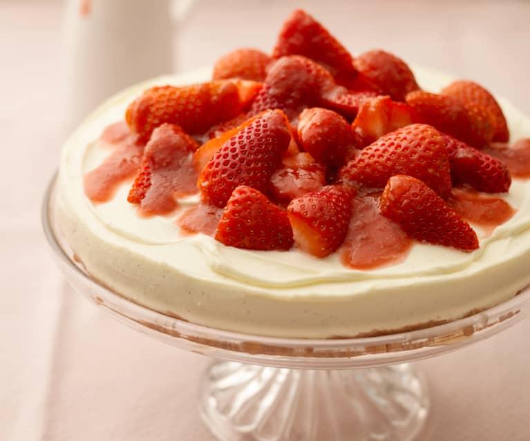 Strawberry and Amaretti Cheesecake