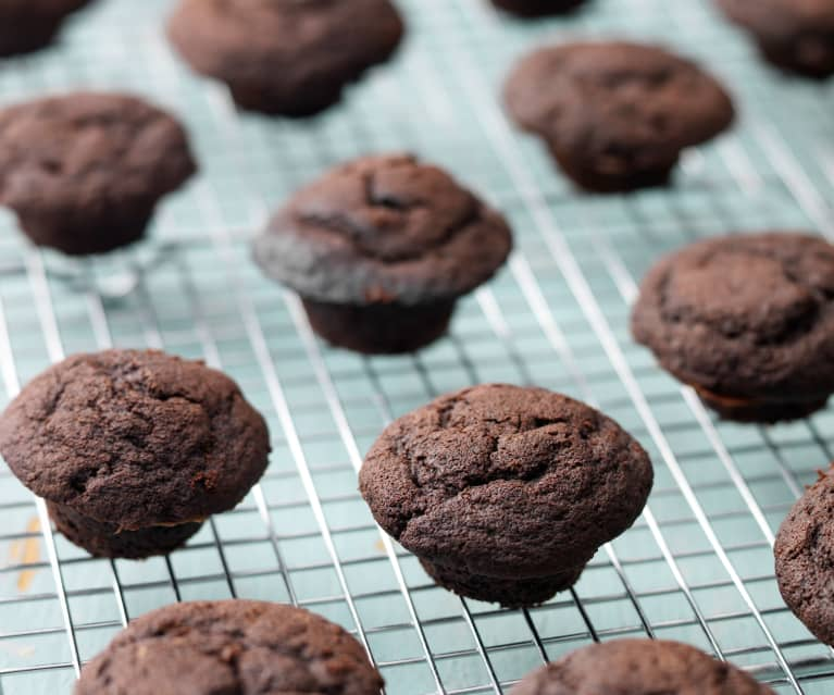 Mini Double Chocolate Muffins