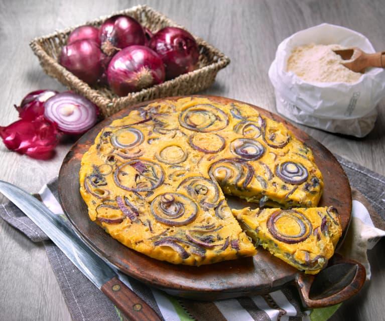 'Frittata' di cipolle al forno (vegan)