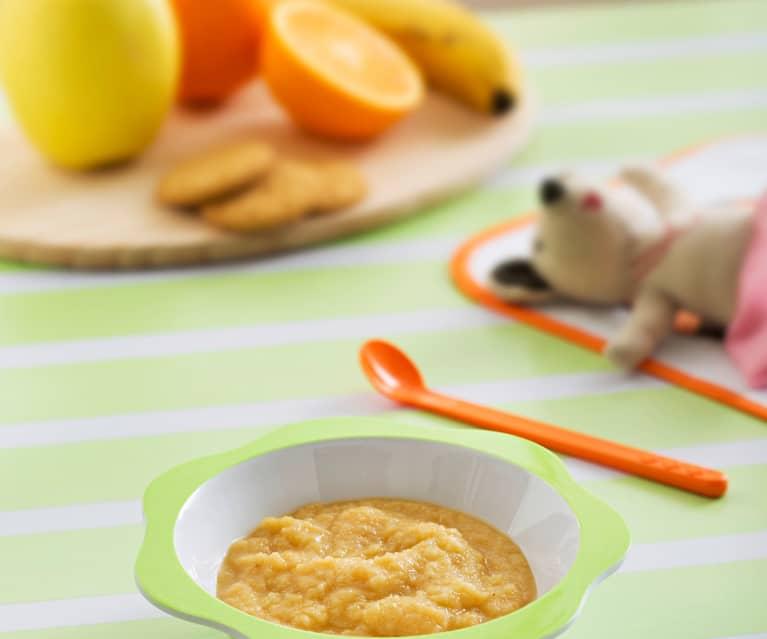 Przecier jabłkowo-bananowy z sokiem pomarańczowym