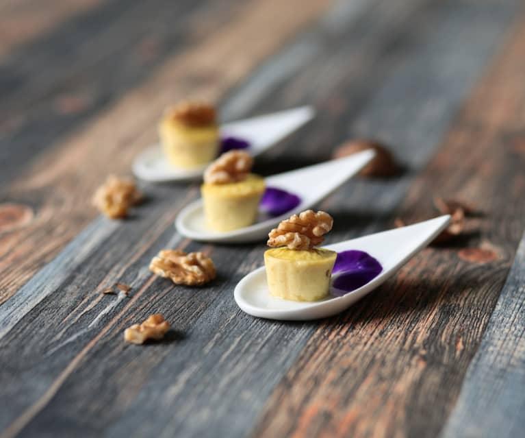 Mini flan di Parmigiano e miele (di Sebastiano Rovida)