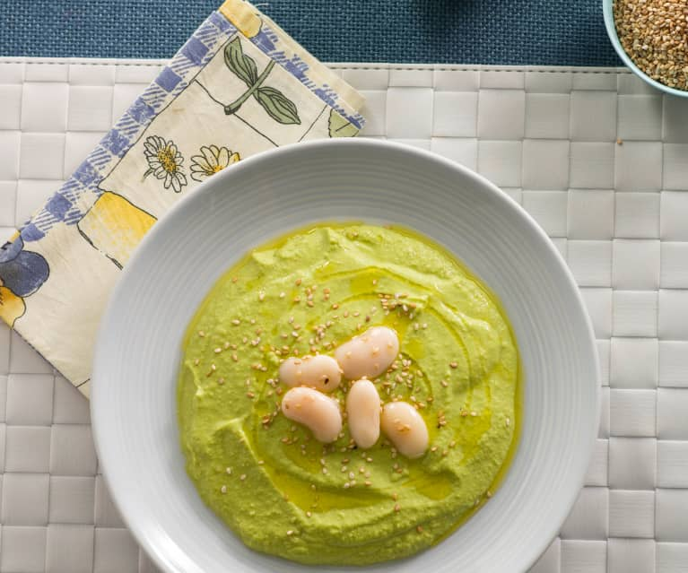 Hummus with Peas and Beans