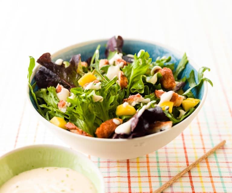 Hake Salad with Mango and Lime Mayonnaise