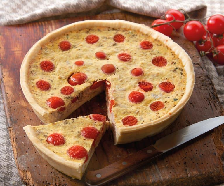 Torta salata al tonno e ciliegini