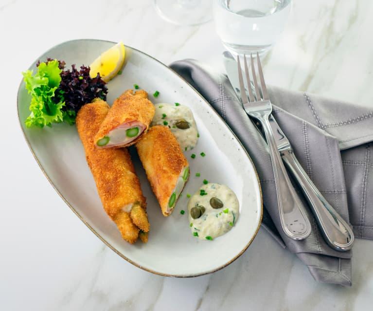 Spargel Cordon Bleu mit Sauce Tartare